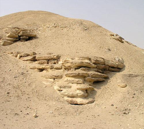 Известняковые блоки ядра пирамиды Аменемхета I. Эль- Лишт.