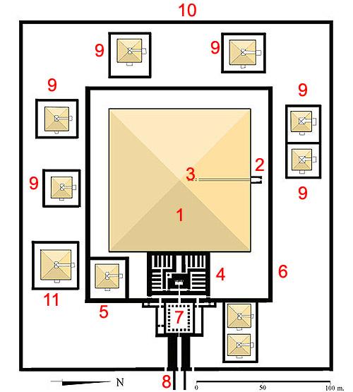 План комплекса пирамиды Сесостриса I