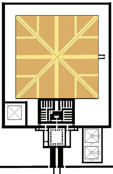 План пирамиды Сесостриса I