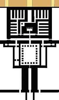 План храма пирамиды Сесостриса I