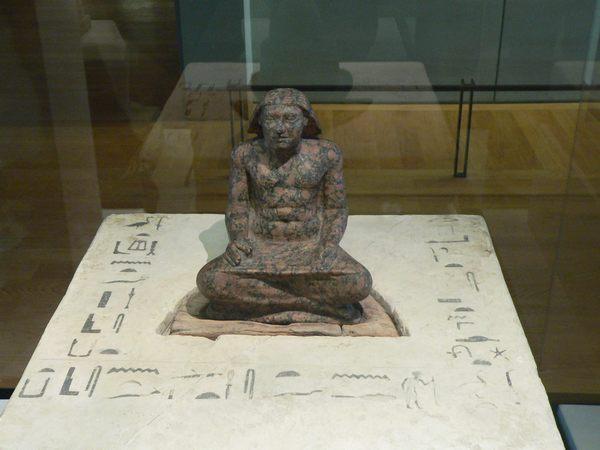 Статуя принца Четвертой Династии Сетка. Музей в Лувре
