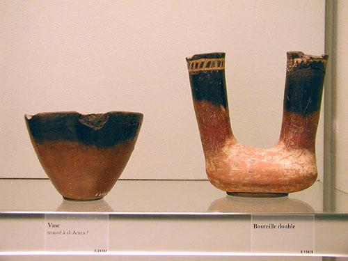 Чернофигурные вазы времен Наккады 1. Музей в Лувре