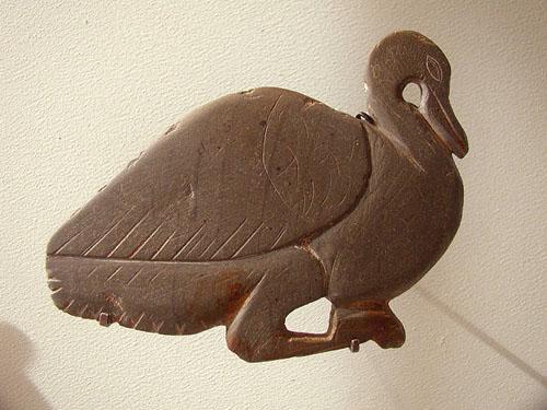 Палетка в форме утки. Преддинастический период. Музей в Лувре