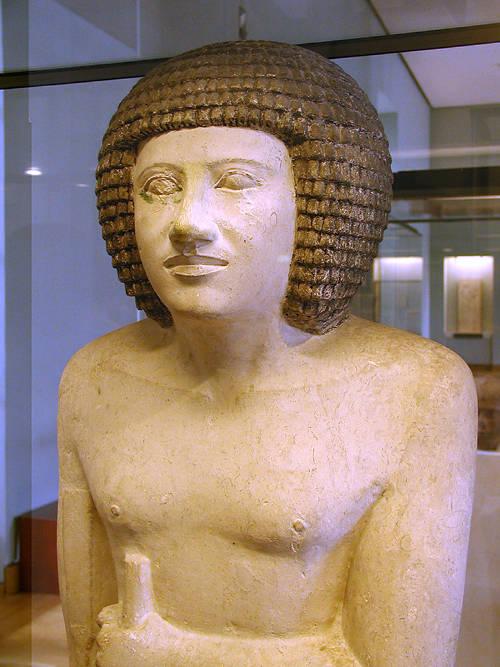 Статуя Сепы. Музей в Лувре .