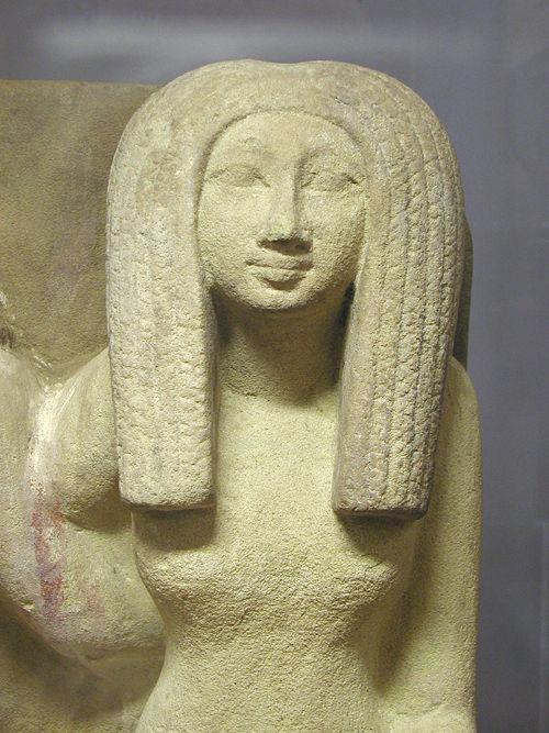 Статуя Imenhetep. Музей в Лувре