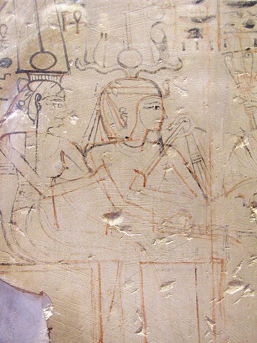 Незаконченный рисунок с исправлениями. Музей в Лувре .