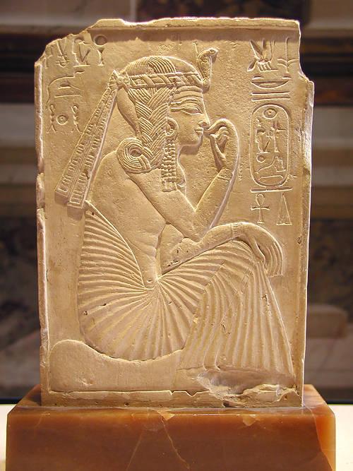 Рельеф юного фараона Рамсесса II. Музей в Лувре.