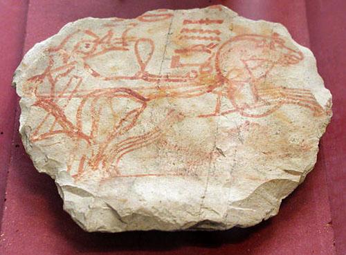 Осколок керамики с изображением колесницы. Музей в Лувре