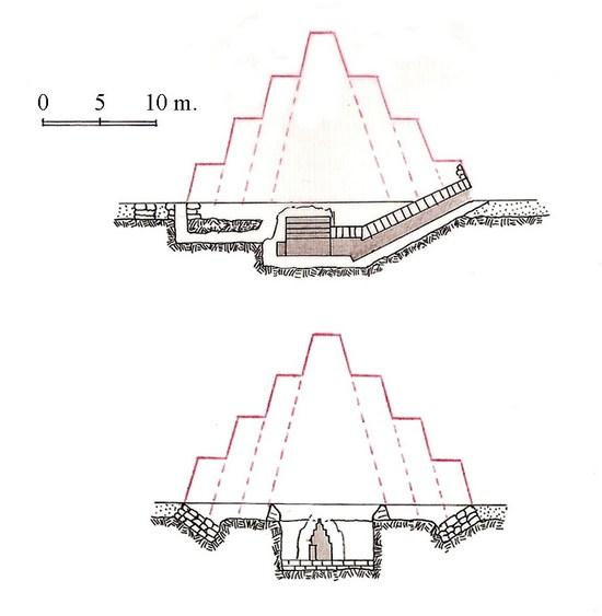 Пирамида-спутник. Погребальный комплекс фараона Хуни. Мейдум.
