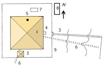План комплекса Мейдумской пирамиды