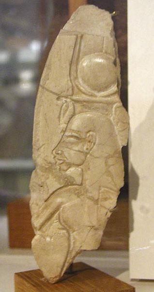 Изображение Нефертити - жены Эхнатона. Музей египетской археологии Петри.