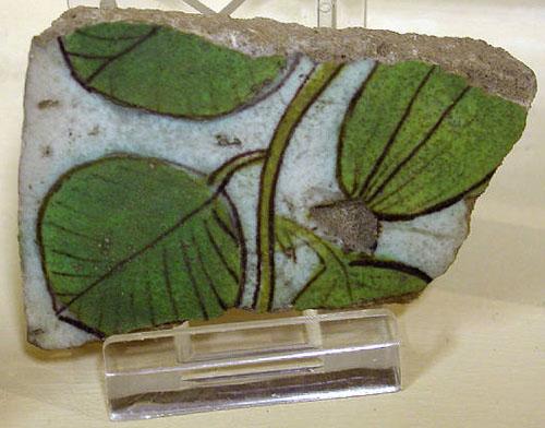 Керамическая плитка с глазурью. Амарна. Музей египетской археологии Петри.