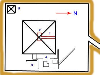 План комплекса пирамиды Джедефре