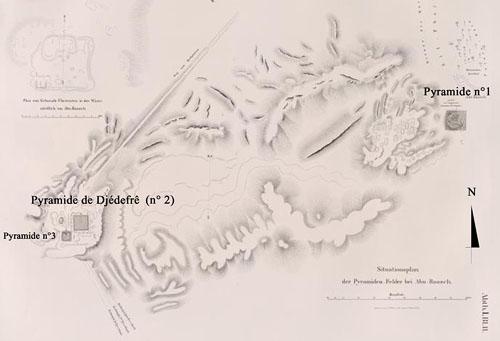 Карта местоположение пирамиды Лепсиуса №1