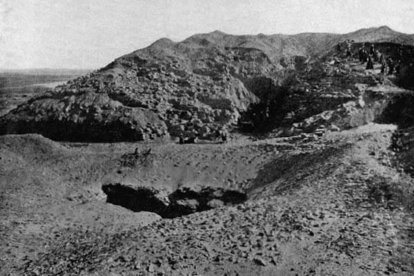 Пирамида Хабы. Вид с севера.