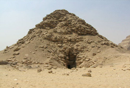 Вход в пирамиду Усеркафа. Северная сторона.
