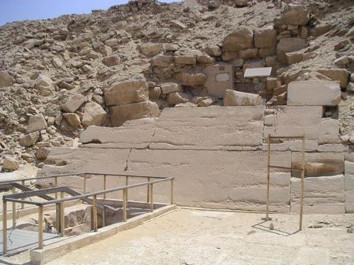 Пирамида фараона Униса. Вид с северной стороны.
