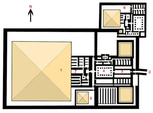 Реконструкция плана заупокойного комплекса фараона Джедкара Исеси.