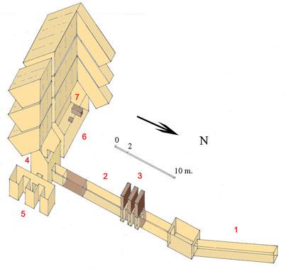План внутренних помещений пирамиды Джедкара Исеси.