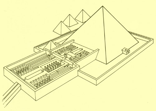Пирамида фараона Пепи I. Реконструкция плана по данным Одрана Лабруза.