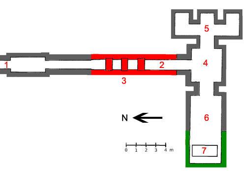 План внутренних помещений пирамиды Пепи II.