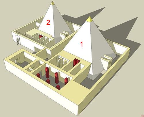 Исторические памятники рядом с пирамидой фараона Тети.
