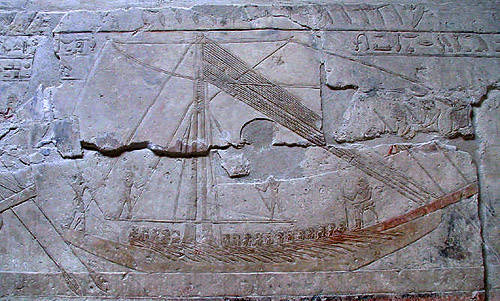 Изображение египетского судна в мастабе Мереруки