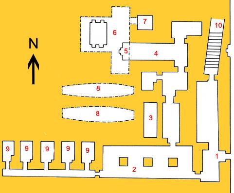 План гробницы Кагемни в Саккаре