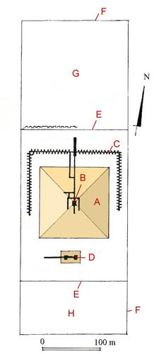 План комплекса пирамиды Сехемхета. Саккара.