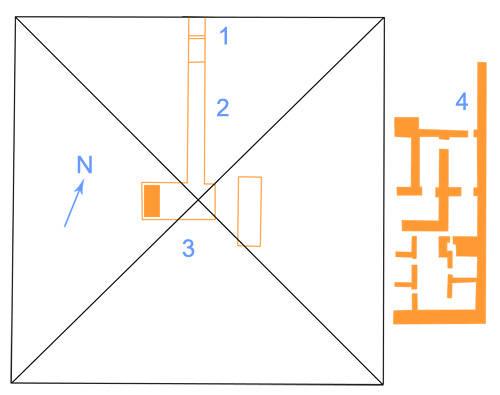 План комплекса пирамиды Иби
