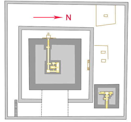 План комплекса пирамиды Хинджера