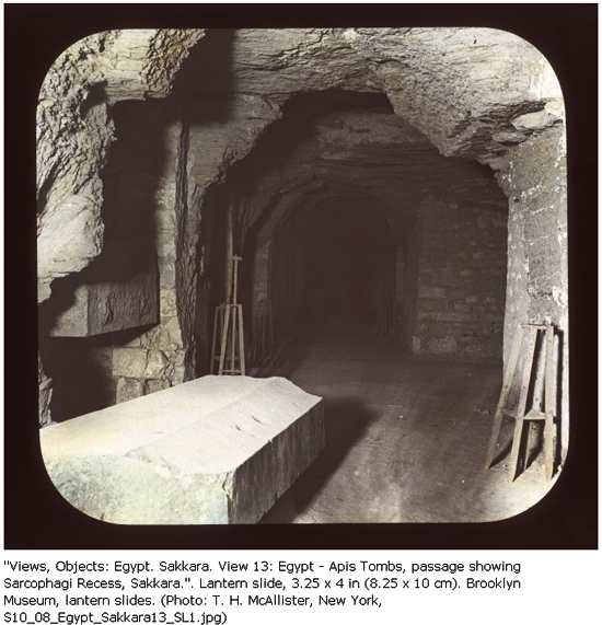Фото из архива Бруклинского музея. Serapeum Saqqara.