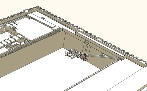 План подземных сооружений южной пирамиды . Комплекс пирамиды Джосера.