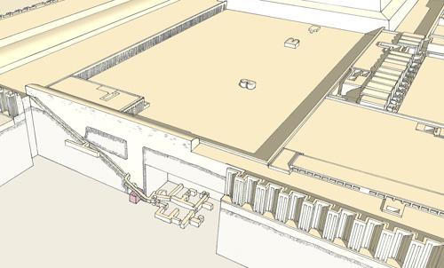 План подземных помещений южной пирамиды.Фараон Джосер. Погребальный комплекс.