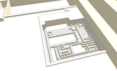 Реконструкция заупокойного храма. Фараон Джосер. Погребальный комплекс.