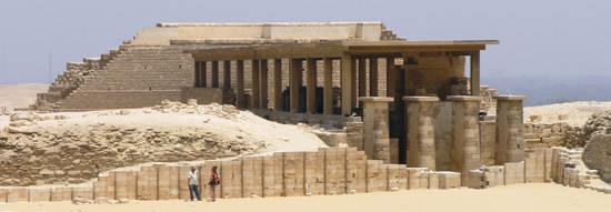 Юго- восточный угол внутреннего двора. Фараон Джосер. Погребальный комплекс.