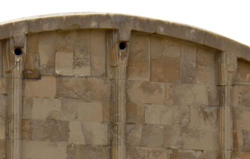 Пилястры придела западной стороны. Фараон Джосер. Погребальный комплекс.