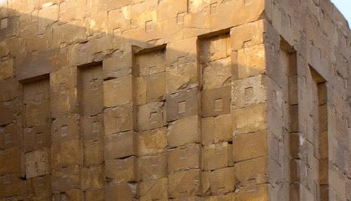 Кладка внешней стены. Фараон Джосер. Погребальный комплекс.