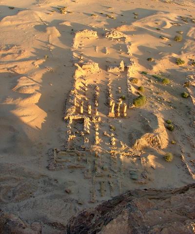 Вид на храм с горы Гебель - Баркал.