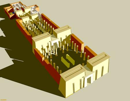 Реконструкция храма Амона в Гебель - Баркале.