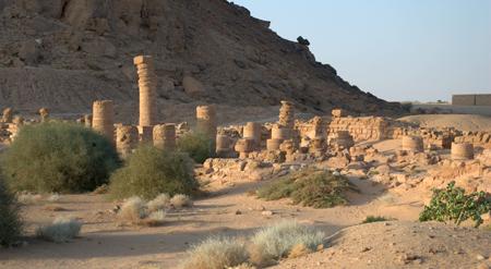 Части храма Амона в Гебель - Баркале.