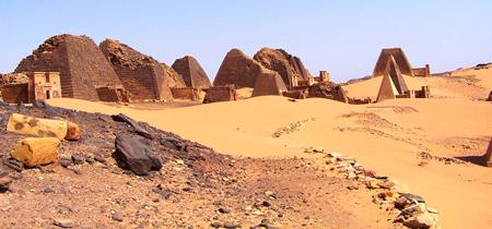 Северное поле пирамид Мероэ.