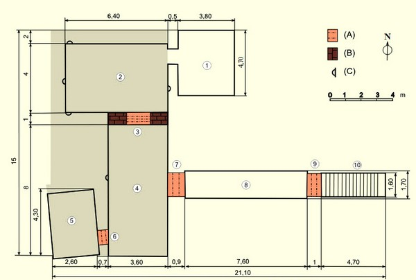 План гробницы KV62 фараона Тутанхамона.