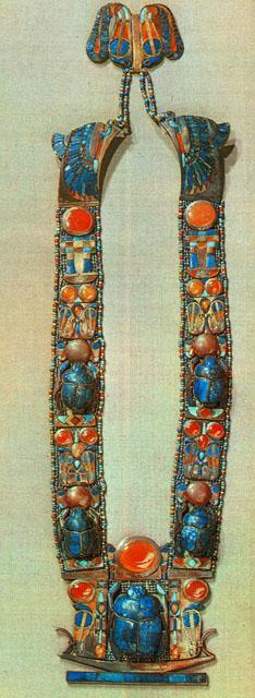 Ожерелье в форме скарабея. Гробница Тутанхамона.