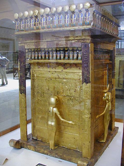 Молельня для хранения каноп Тутанхамона. Вид на западную и южную стороны.