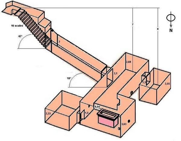 Помещения гробницы KV62 фараона Тутанхамона.